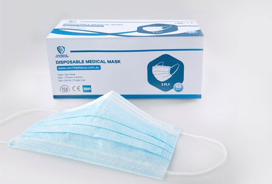 Box of disposable medical mask